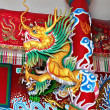 Dragon at KuanYin temple - Stockfoto