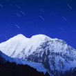 Royalty-Free Stock Photo: Mountain and stars