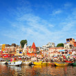 Ghats on Ganga — Stock Photo