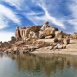 Beauty lake in Hampi — Foto Stock