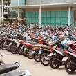 Stock Photo: Many motorbikes