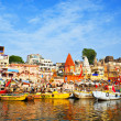 Ghats on Ganga - Stock Photo