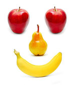 Smiling fruits — Stock Photo