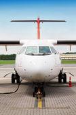 Refueling plane — Stock Photo