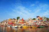 Ghats on Ganga — Stock Photo