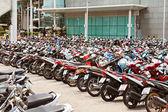 Vele motorfietsen — Stockfoto