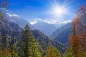 Krajobraz himalaje, nepal — Zdjęcie stockowe