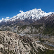 Stock Photo: Canyon in Annapurna mountains