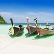 longtail boats — Stock Photo
