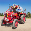 Decorated tractor — Stock Photo