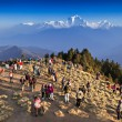 People looking for sunrise at Himalayas — Stock Photo