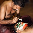 Kathakali preparation — Stock Photo