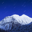 Mountain and stars — Stock Photo