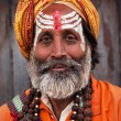 Stock Photo: Sadhu at Pashupatinath Temple