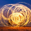 Stock Photo: Fireshow at beach