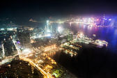 Hong Kong night view — Stockfoto