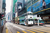 Hong Kong trams — Stock Photo