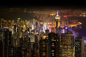 Hong Kong at night — Foto Stock