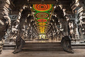 Inside of Meenakshi Temple — Stock Photo