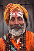 Sadhu at Pashupatinath Temple — ストック写真