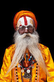Sadhu at Pashupatinath Temple — Stock Photo