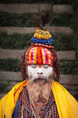 Sadhu at Pashupatinath Temple — Стоковое фото