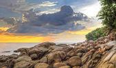 Sunset at Karon beach — Stock Photo