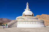 Shanti Stupa — Stock Photo