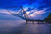 Chinese fishing net — Stock Photo