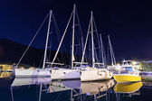 Yachts in the harbor — Stock Photo