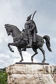 Skanderberg statue — Stock Photo