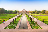 Taj mahal garden — Stock Photo