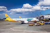 Cebu Pacific airplane — Stock Photo