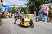 Motorlu üç tekerlekli bisiklet — Stok fotoğraf