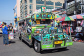 Jeepney on Manila street  — Stock Photo