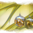 Christmas balls card illustration  — Stockfoto