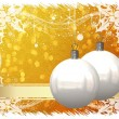 Royalty-Free Stock Photo: Beautiful Christmas Balls Card Illustration
