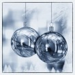 illustration de carte de belles boules de Noël — Photo