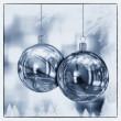 Beautiful Christmas Balls Card Illustration — ストック写真