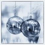 bolas de Navidad hermosa ilustración de la tarjeta — Foto de Stock