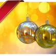 美しいクリスマス ボール カード イラスト — ストック写真