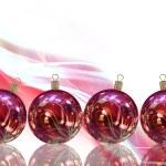 güzel Noel topları illüstrasyon kart — Stok fotoğraf #13502143