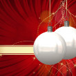 Beautiful Christmas Balls Card Illustration — 图库照片