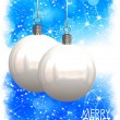 Beautiful Christmas Balls Card Illustration — Photo