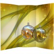 Christmas balls card illustration — Stock Photo #13634195