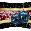 Stock Photo: Christmas balls card illustration