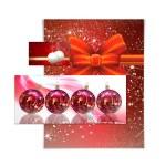 Christmas balls card illustration — Stock Photo #13634720