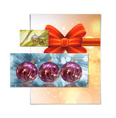 クリスマス ボール カード イラスト — ストック写真