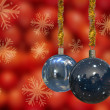 Christmas Balls Card Illustration — Stock Photo #13783286