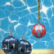 Christmas Balls Card Illustration — Photo